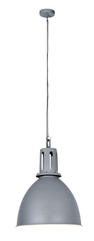 Hanglamp 101: stoere industriële hanglamp, in blauw en grijs verkrijgbaar #101woonideeen #leenbakker