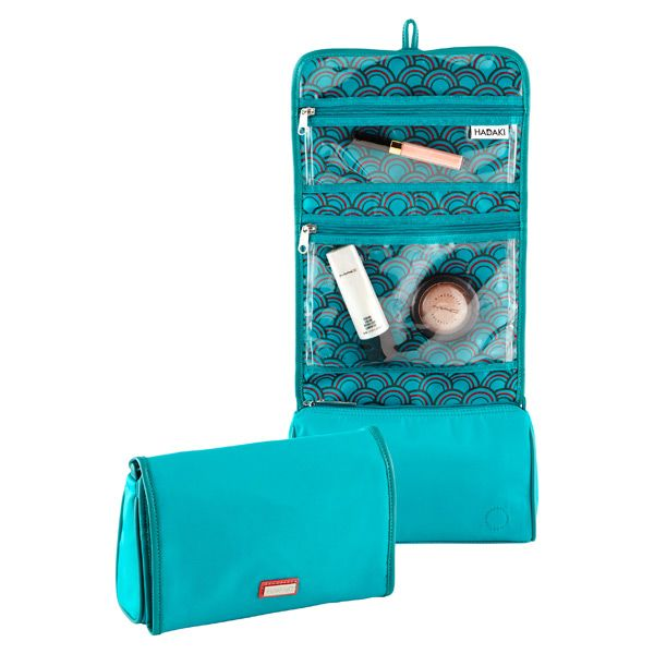 Turquoise Lace Hanging Toiletry Organizer