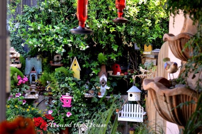 Birdhouses in the Garden Around the House blog