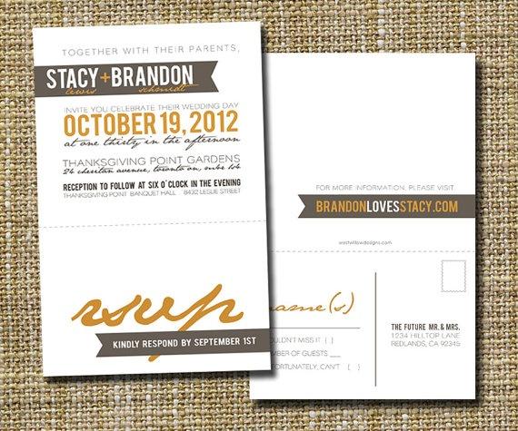 photo invitation postcards