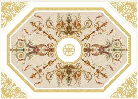 ЭСКИЗЫ росписей в Екатериниском зале Большого Царицынского дворца