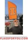 "Illinois Fighting Illini Tailgate Flag 42"" x 20"""