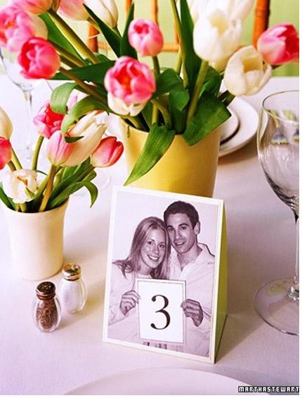 Todo sobre Bodas: Números originales para las mesas del banquete. Wedding.
