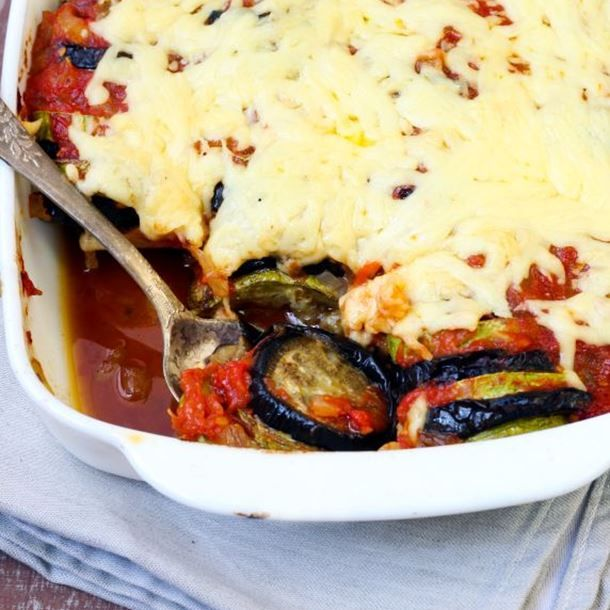 Tian de courgettes, aubergines et tomates rapide