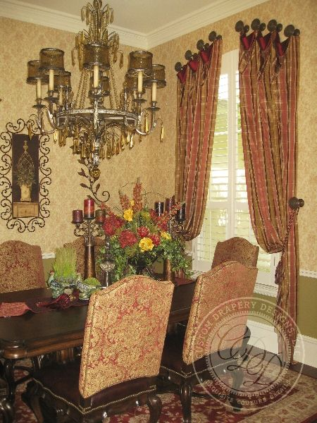 Wm22 450x600 Pixels Tuscan Dining RoomsWall CurtainsDrapery DesignsBed CrownTraditional