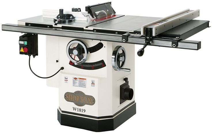 Shop Fox W1819 3 HP 10-Inch Table Saw with Riving Knife - Power Table Saws - Amazon.com