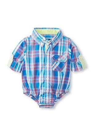 47% OFF Beetle & Thread Kid's Plaid Shirtzie (Blue)