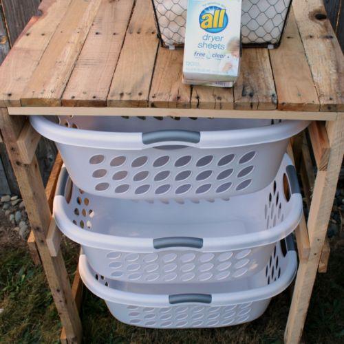 DIY Pallet Laundry Shelf – Penny Pincher Jenny
