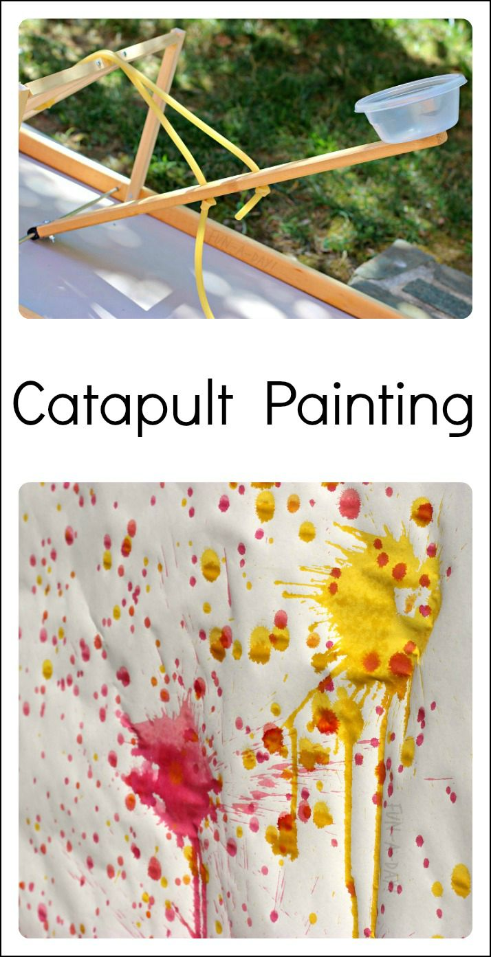 Use a CATAPULT to create a super fun and unique art experience for the kids!
