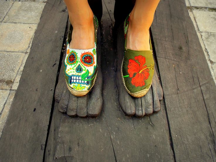 #Handpainted #shoes #textile #waterproofpaint.Theme - Dia de los muertos (Design price starting from 100 Ron) For orders&details please leave a message on Facebook Color MI