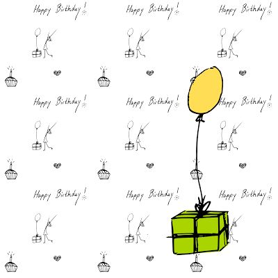 FREE printable HAPPY BIRTHDAY gift wrapping paper and clipart graphics ...
