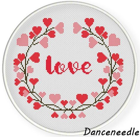 INSTANT DOWNLOAD,Free shippingCounted Cross-Stitch PDF,heart and love,valentine's day, wedding,zxxc0853 by danceneedle on Etsy