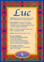 Nombre Luc