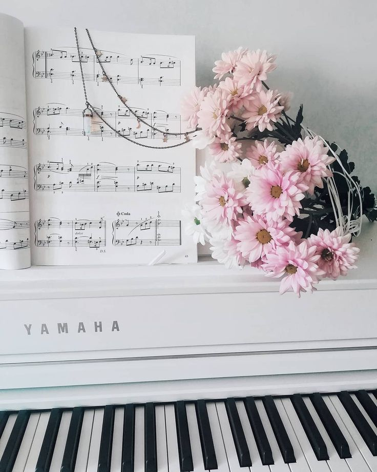 Пианино ноты картинка