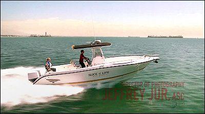 Dexter Filming Locations: Dexter & Hannah on his boat