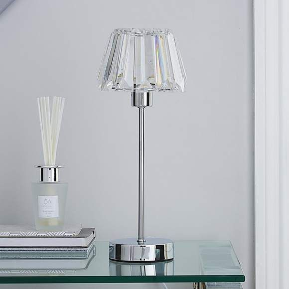 Paloma Chrome Lamp Lamp Chrome Lamp Acrylic Table