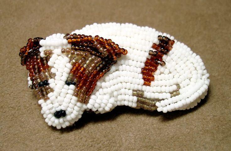 jackrussell jewlery | beaded Irish Jack Russell Terrier bead embroidery pet portrait fine ...