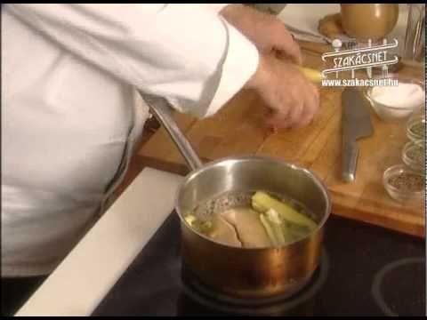 Laci bácsi konyhája Hideg libamáj zsírjában www.szakacsnet.hu - YouTube
