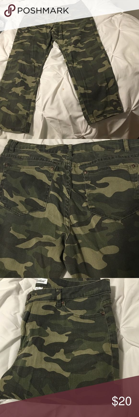 Jeans Army camo jeans literally wore for 1 day! Cute excellent condition! Pants Ankle & Cropped