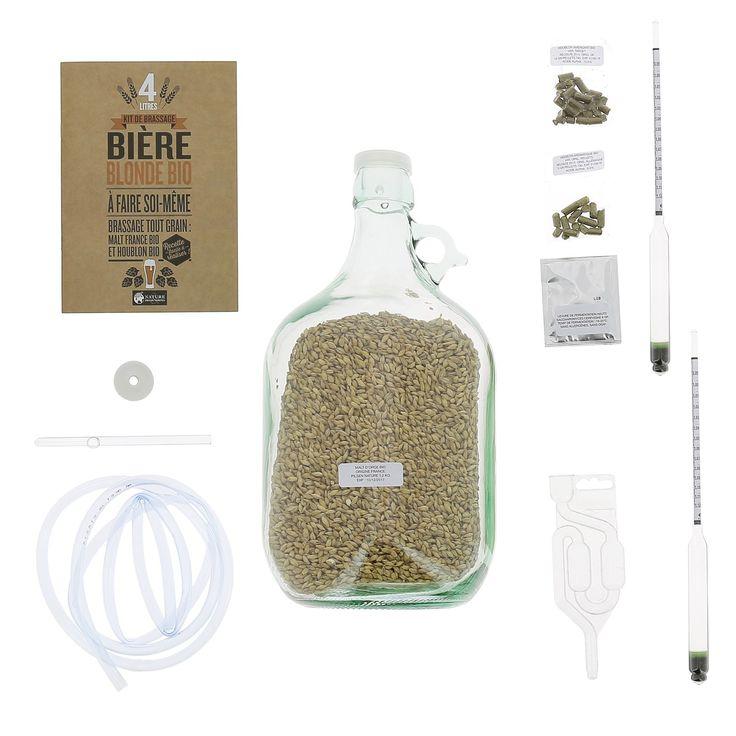 Kit de brassage : une bière bio maison ! - Pour faire soi-même 4 litres de bière blonde de type Ale - 55 €
