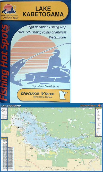 Charts and Maps 179987: Lake Kabetogama Detailed Map ... on