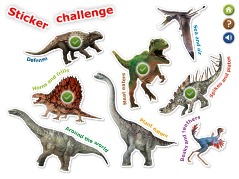 DK Dinosaur Stickers ($1.99) palette of 64 virtual dinosaur stickers - Create prehistoric sticker scenes from 14 beautiful backdrops at the touch of a screen, or match the stickers to their shapes in 8 exciting sticker challenges, unearthing fascinating dino facts along the way. Children can save photos of their sticker scene creations to their iPad's Photos app, to then either share with friends and family, or print out to build their very own Jurassic Park!Beautiful Backdrops, Dinosaurs Stickers, Slp, Jurassic Park, Speech App, Stickers Ipad, Photos App, Ipad App, Stickers Scene