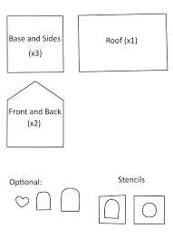 Resultado de imagen de gingerbread mini house template