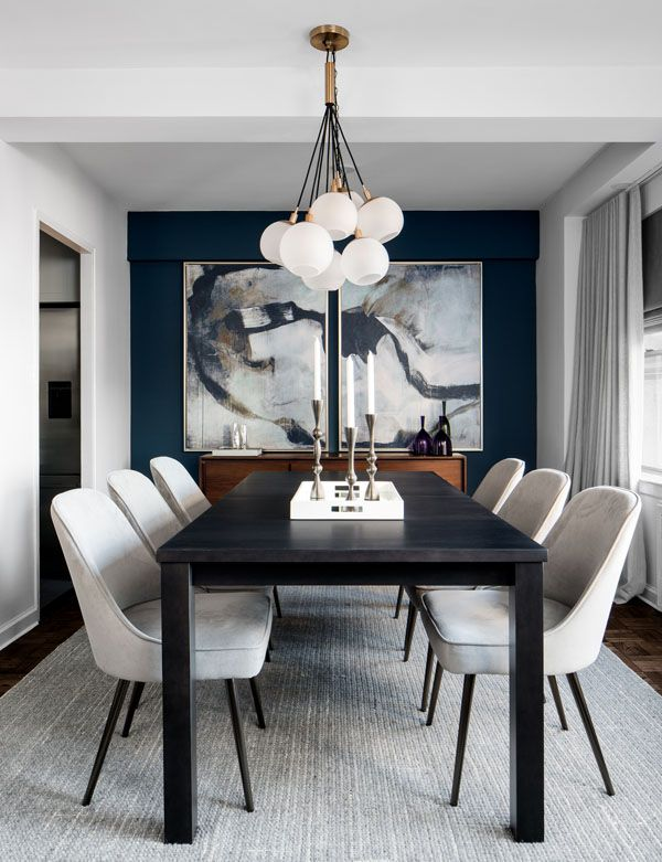 Why It Pays To Work With An Interior Designer Small Dining Room Decor Mid Century Dining Room Black And White Dining Room Black and white dining room