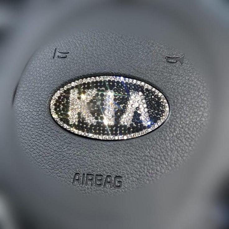 KIA Bling Emblem for Steering Wheel LOGO Sticker Decal in