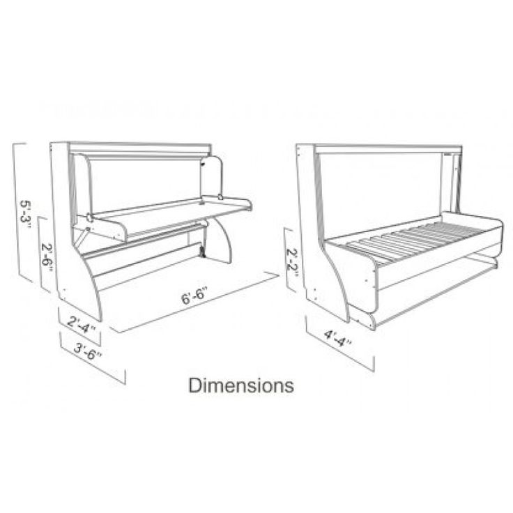 17 best images about hidden bed desk on pinterest models for Double bed plans
