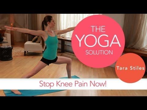 Stop Knee Pain Now | The Yoga Solution With Tara Stiles - yoga video
