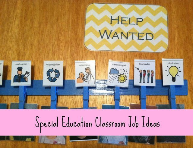 Classroom Organization Ideas For Special Education : Special education classroom jobs idea job ideas for