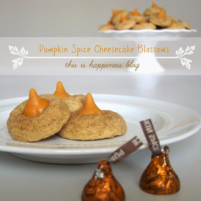 Pumpkin Spice Cheesecake Blossoms. The perfect Fall cookie :)