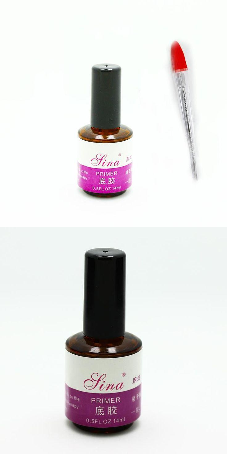 [Visit to Buy] Free Shipping 2 pcs/Lot Acrylic Nail Kit Primer 15Ml+ Sliver Nail Pusher Spoon Remover For Uv Nail #Advertisement