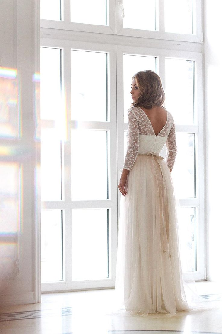 46 best a line wedding dresses images on pinterest wedding shop affordable scoop neck long sleeve tulle wedding dress with lace bodice at junebridals over 8000 chic wedding bridesmaid prom dresses more are on ombrellifo Images