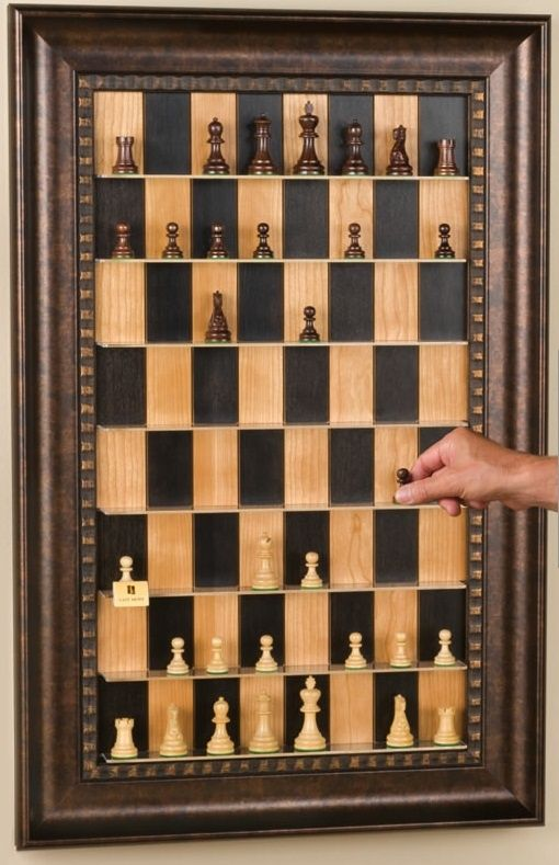 How to Make a Vertical Wall-Mounted Chessboard for the library!!!!!!!!! #Board #Games / #BoardGames Pins via @Melanie Carroll Shop