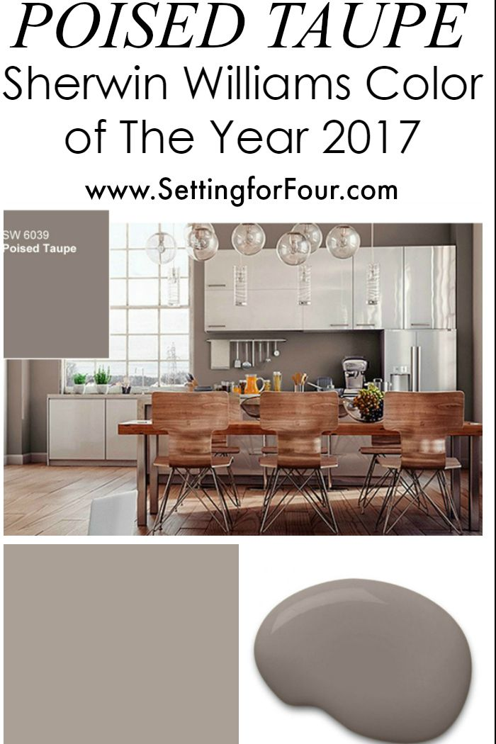 """Posied Taupe - Sherwin Williams Color of the Year!  The perfect """"greige"""" - not too cool, not too warm..."""