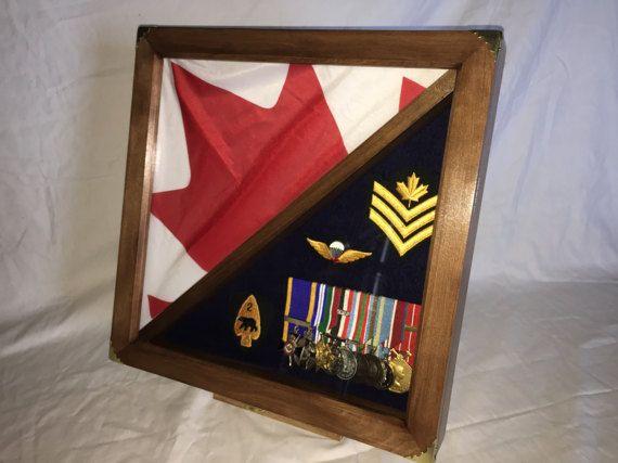 Flag Shadow box / Display Case / Medals Display / Flag Display
