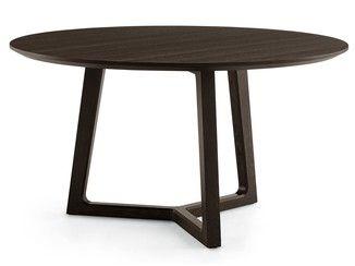 mesa redonda de madera concorde mesa redonda poliform