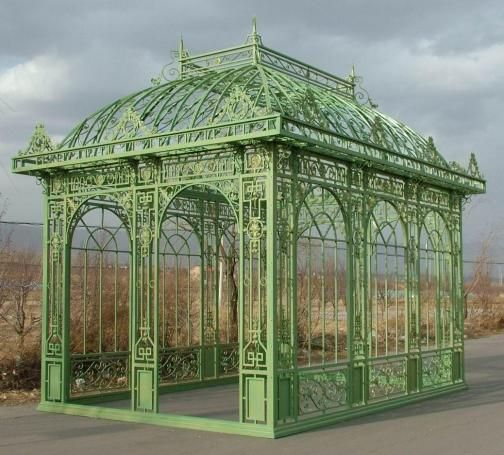 Tall Rectangular Garden Gazebo Conservatory Or Pavilion