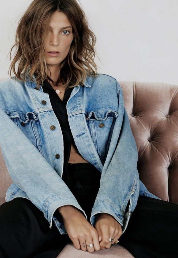 Daria i authentic denim jacket Vogue UK.
