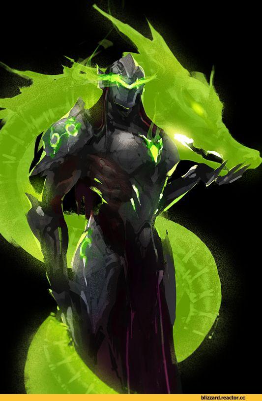 Genji (Overwatch),Overwatch,Blizzard,Blizzard Entertainment,фэндомы,красивые картинки,Overwatch art