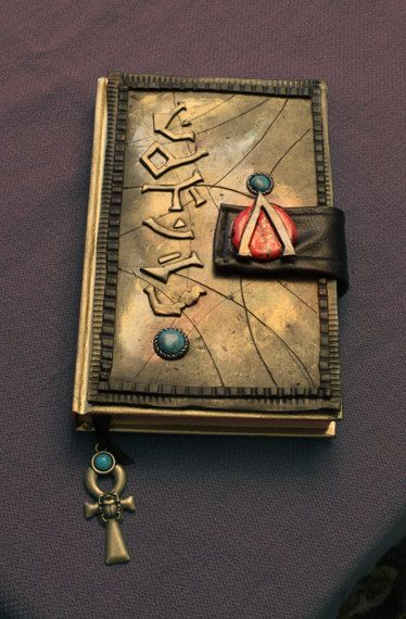 Stargate SG1 Polymer Clay Journal by LuckyLycan on Etsy, $70.00