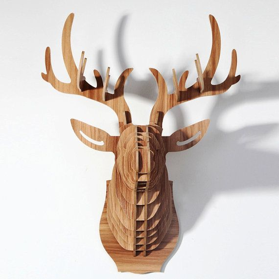 deer head puzzle animal head mdf deer head by