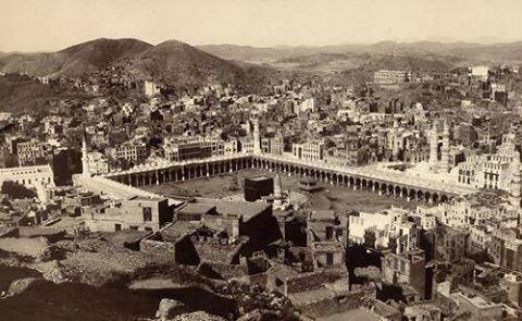 Masjid Al-Haram, in 1917  sumber: https://plus.google.com/112777874707031796981/posts/RKiEbX3BDog