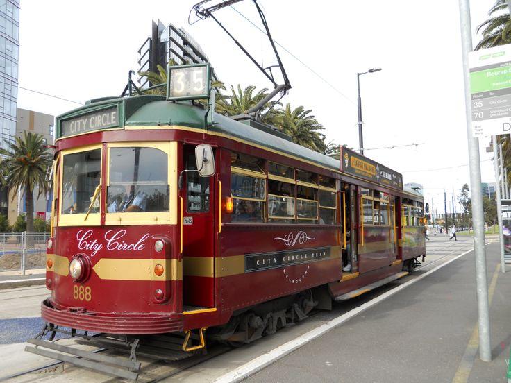 Tram to Melbourne docklands