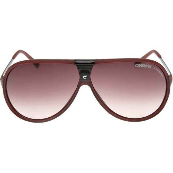 CARRERA Machu Burgundy Aviator Sunglasses ($69) ❤ liked on Polyvore featuring accessories, eyewear, sunglasses, women, acetate glasses, black gradient sunglasses, thin sunglasses, carrera eyewear and carrera sunglasses