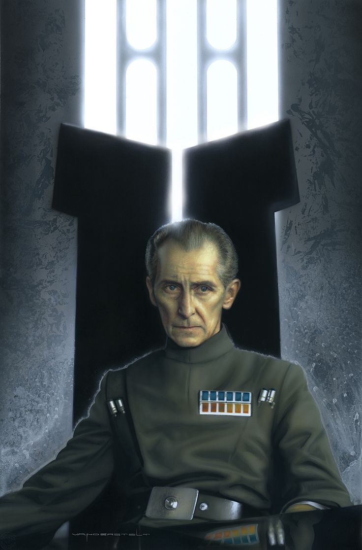 Grand Moff Wilhuff Tarkin - Vanderstelt Studio #starwars this guy is the spitting image of Hameka in Dark Moon Rising #Hameka #DarkMoonRising
