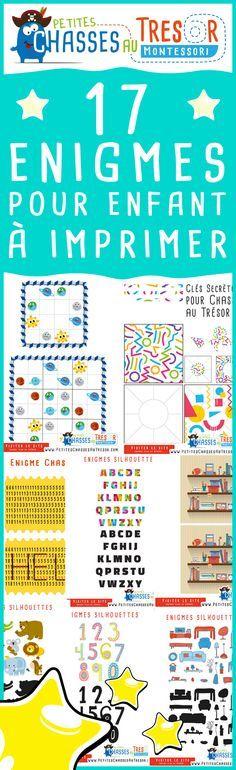 Enigmes pour enfants à imprimer ! des activités de reflexion pour les enfant de 5 ans à 14 ans.