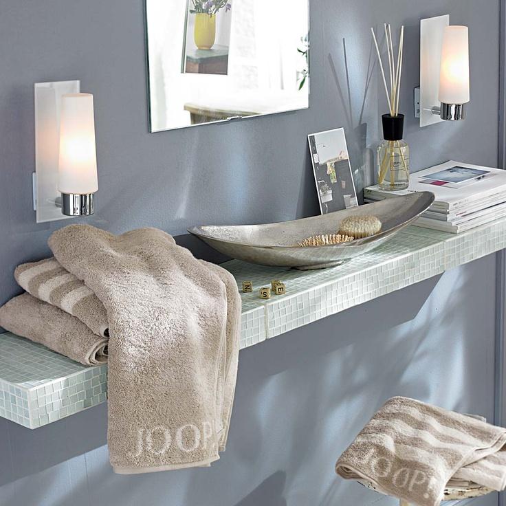 Wandregal im  Mosaikstil. #living #impressionen #bath